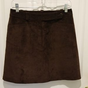 Anne Taylor Suede Leather Skirt